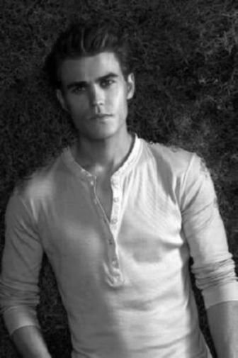 Paul Wesley black and white poster