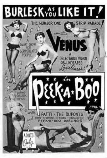 Peekaboo 1953 Burlesque black and white poster