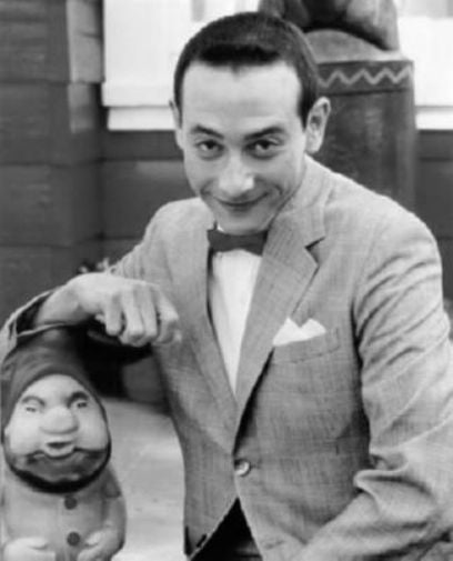 Pee Wee Herman black and white poster