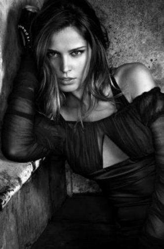 Petra Nemcova black and white poster