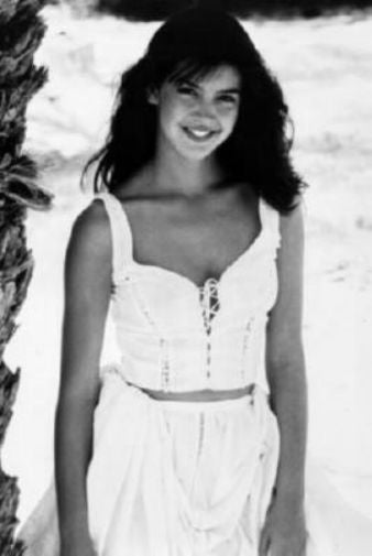 Phoebe Cates black and white poster