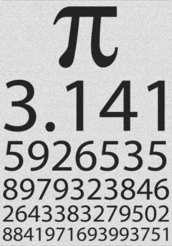 Pi black and white poster