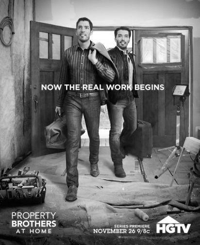 Property Brothers poster tin sign Wall Art