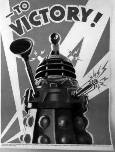 Dr Who black and white poster