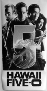 Hawaii Five 0 black and white poster