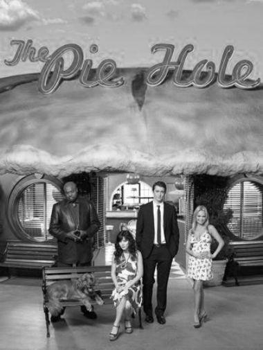 Pushing Daisies black and white poster