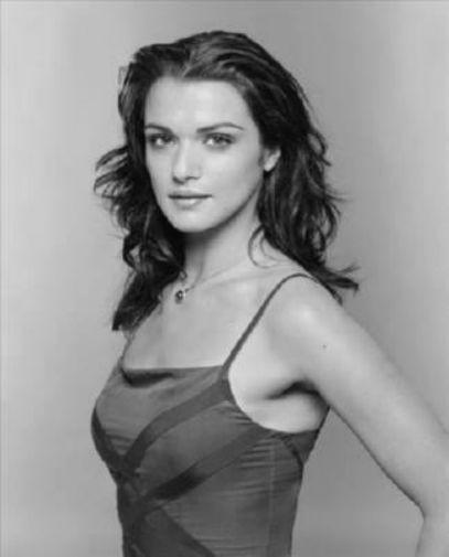 Rachel Weisz black and white poster
