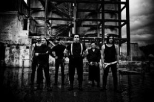 Rammstein black and white poster