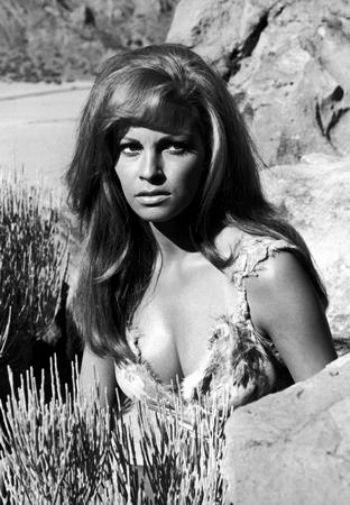 Raquel Welch black and white poster
