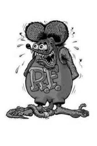 Rat Fink black and white poster