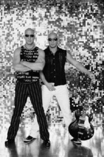 Right Said Fred black and white poster