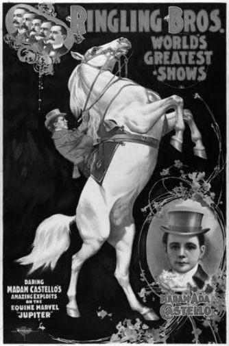 Ringling Circus black and white poster
