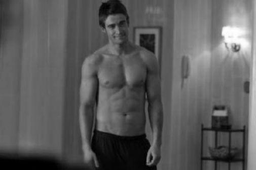 Robert Buckley black and white poster