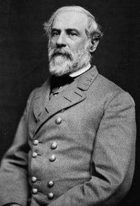Robert E Lee black and white poster