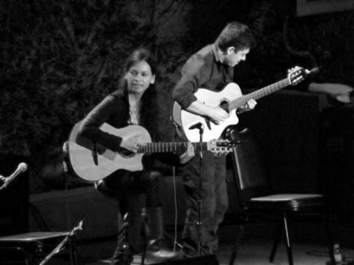 Rodrigo Y Gabriela black and white poster