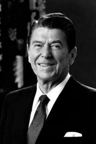 Ronald Reagan black and white poster