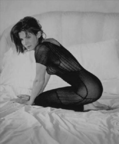 Sandra Bullock black and white poster