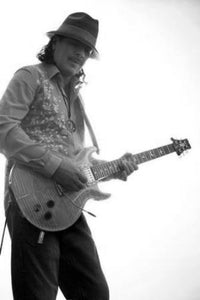 Santana black and white poster