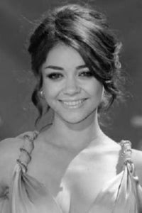 Sarah Hyland black and white poster