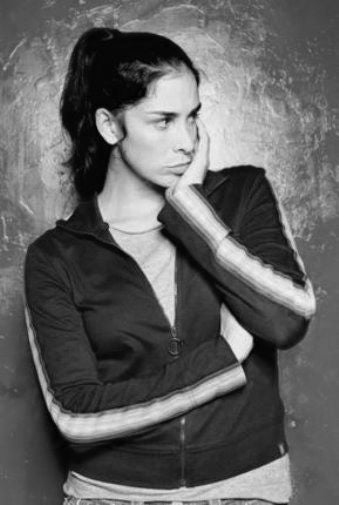 Sarah Silverman black and white poster