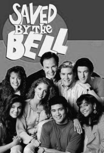 Saved By The Bell black and white poster
