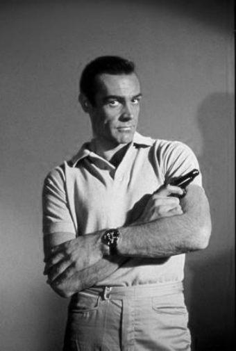 Sean Connery black and white poster