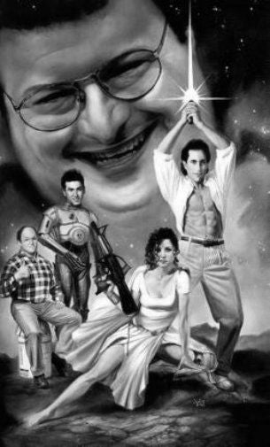 Seinfeld black and white poster