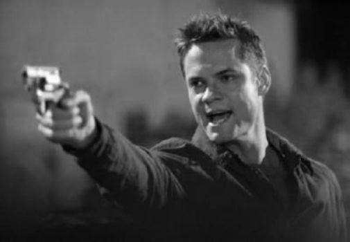 Shane West black and white poster