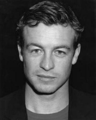 Simon Baker black and white poster