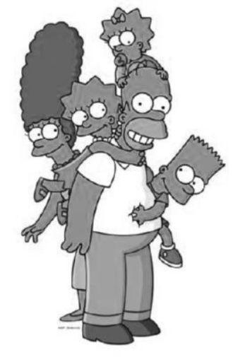 Simpsons black and white poster