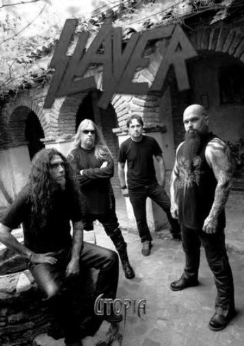 Slayer black and white poster