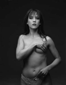 Sophie Marceau black and white poster