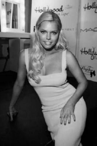 Sophie Monk black and white poster