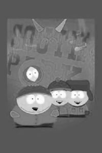 South Park black and white poster