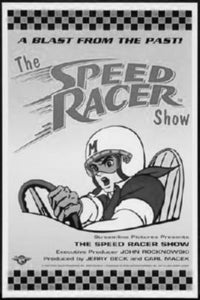 Speed Racer black and white poster