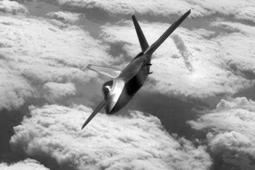 Stealth Fighter black and white poster