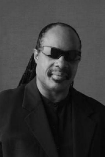 Stevie Wonder black and white poster