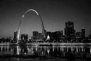 St.Louis Missouri Arch black and white poster