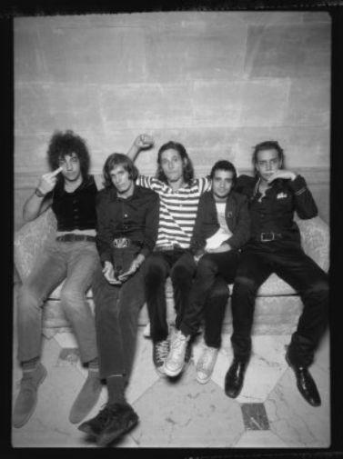 Strokes black and white poster