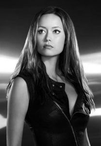 Summer Glau black and white poster