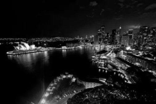 Sydney Skyline black and white poster