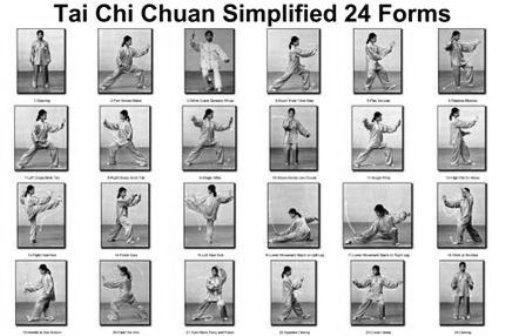 Tai Chi Chuan 24 Forms poster tin sign Wall Art