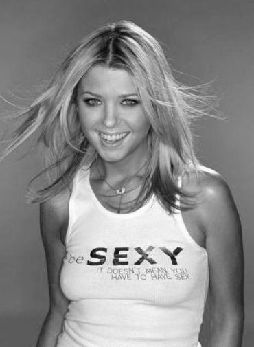 Tara Reid black and white poster