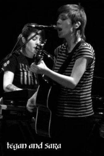 Tegan And Sara black and white poster