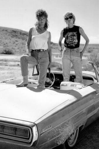 Thelma And Louise Black and White Poster 24