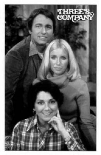 Threes Company black and white poster