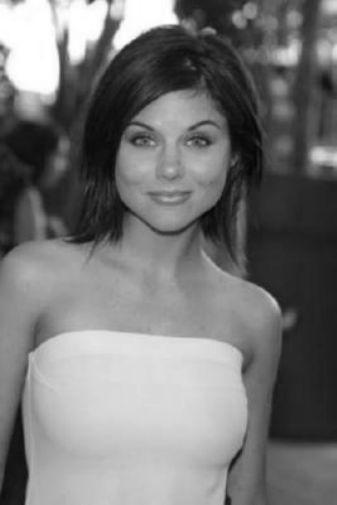 Tiffani Amber Thiessen black and white poster