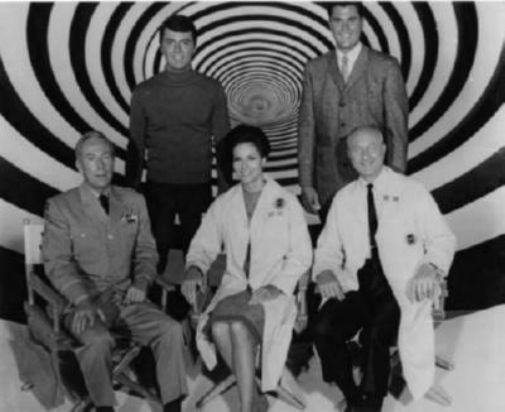 Time Tunnel black and white poster