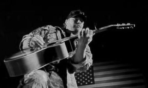Toby Keith black and white poster