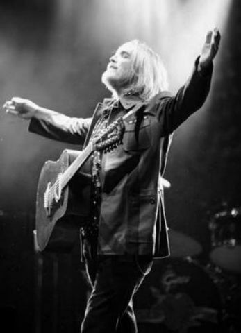 Tom Petty black and white poster